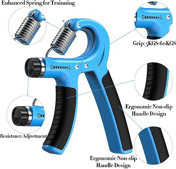 Sport Hand Grip Strengthener Adjustable Forearm Wrist Finger Trainer 5-60 kg