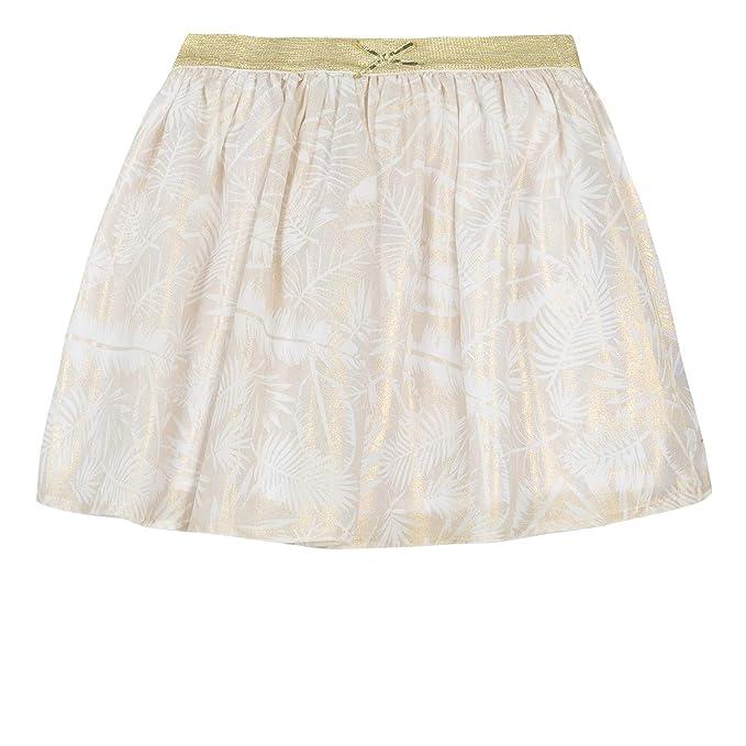 3 Pommes 3n27014 Skirt Falda, Dorado (Pale Gold 741), 2-3 años ...