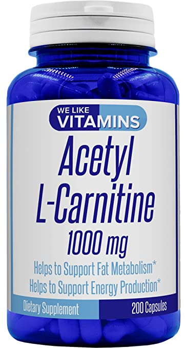 Acetyl L Carnitine 1000mg 200 Capsules