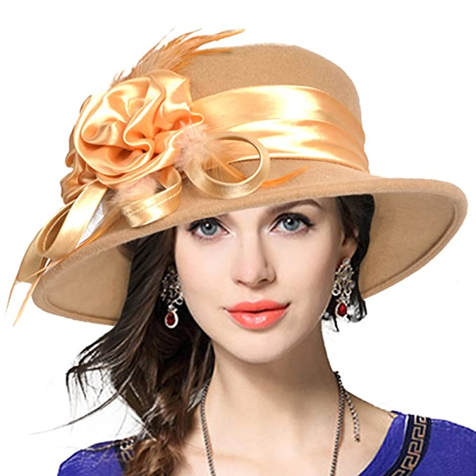 1920s Accessories | Great Gatsby Accessories Guide Womens Wool Church Dress Cloche Hat Plumy Felt Bucket Winter Hat $24.99 AT vintagedancer.com