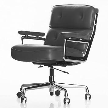Vitra Es 104 Eames Lobby Chair Burostuhl Leder Schwarz Gestell