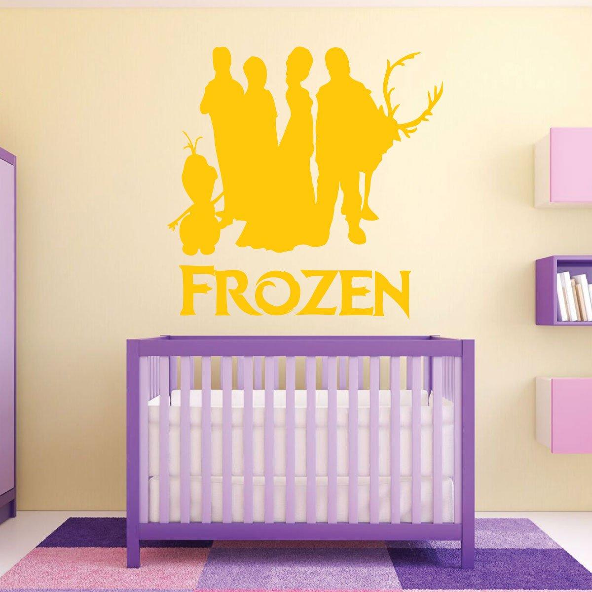Amazon.com: Frozen Wall Decor Vinyl Wall Art Playroom Ideas, Baby ...