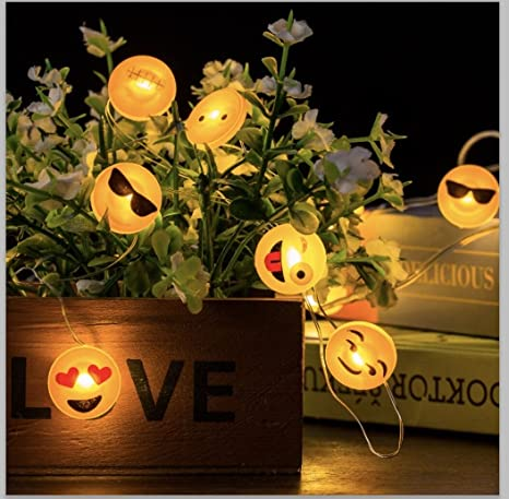 Emoji LightsBattery PoweredEmoticon Fairy Led String Exclusive 5A4LRj