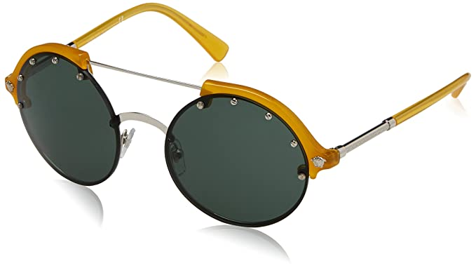 54330d13abf2a Amazon.com  Versace Women s Studded Brow Bar Sunglasses