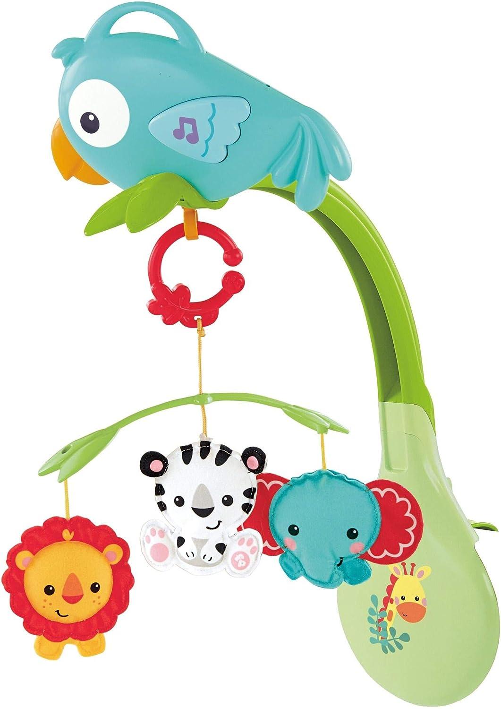 Fisher-Price Móvil musical 3 en 1, juguete de cuna con música para bebé (Mattel CHR11)