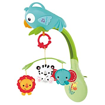 83a43ea1937 Buy Fisher-Price 3-in-1 Rainforest Musical Mobile Online at Low Prices in  India - Amazon.in