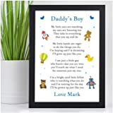 PERSONALISED Christmas Birthday Fathers Day Xmas Gifts From Son Little Boy Poem For Daddy Dad Grandad