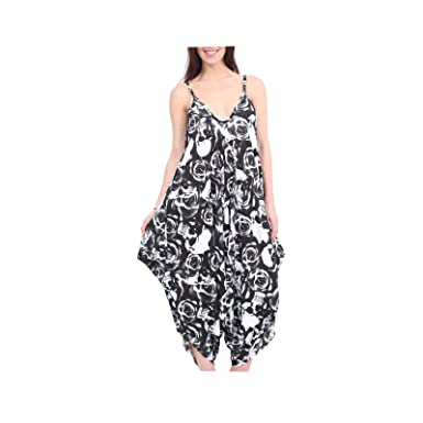 4740137f03aa Womens Hareems V Neck Harems Dress All In One Jumpsuit Romper Ladies Plus  Size  Amazon.co.uk  Clothing