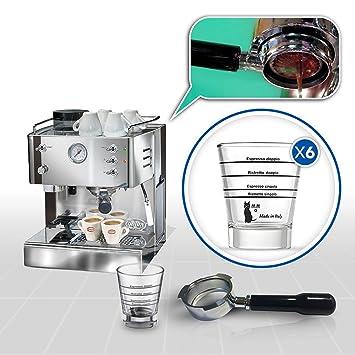 LaGondola Bundle – Máquina Caffe Espresso cromado Quickmill 3035 con molinillo portafiltro sin fondo y