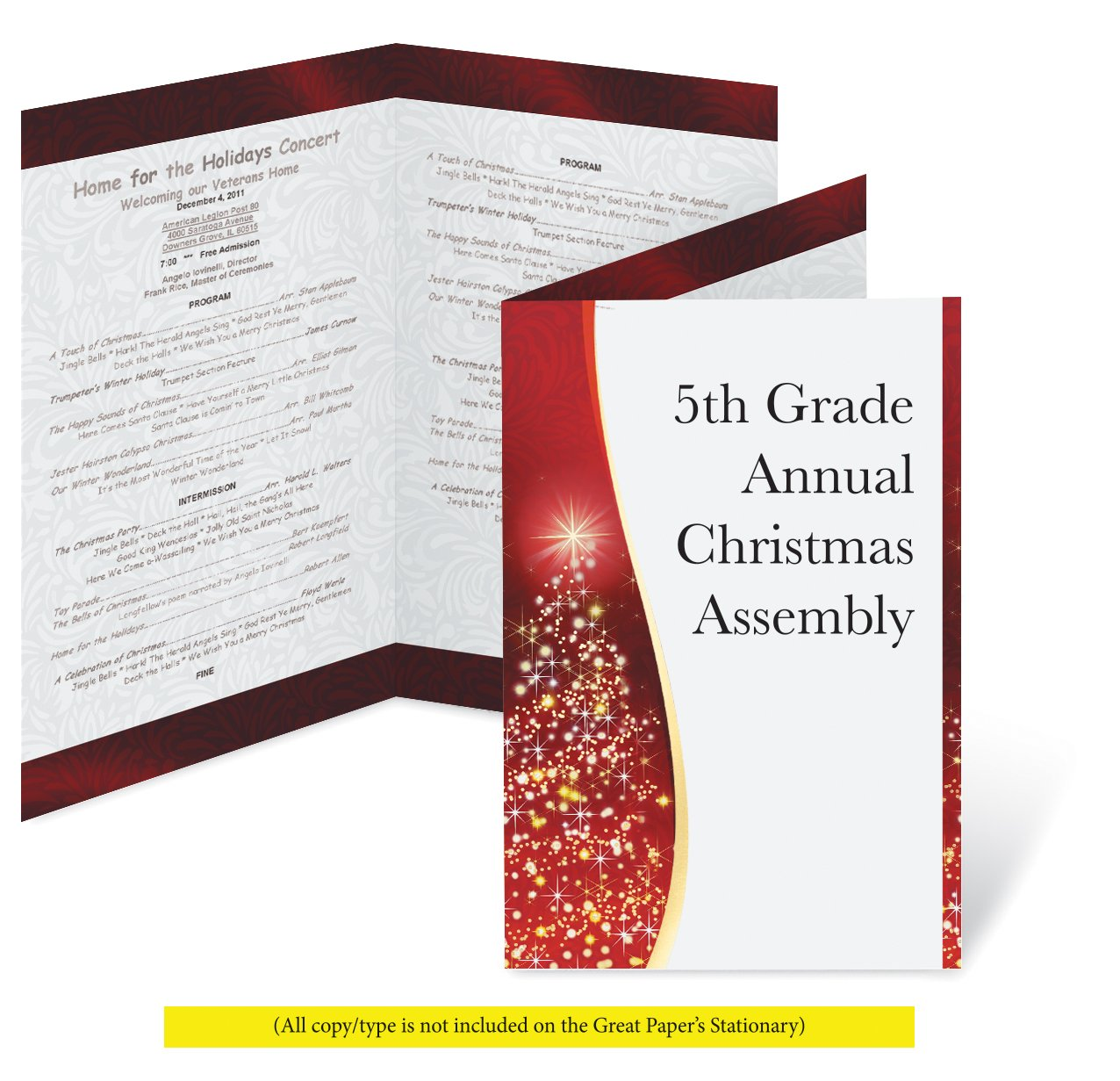 amazon com great papers holiday foil shimmer holiday program 25