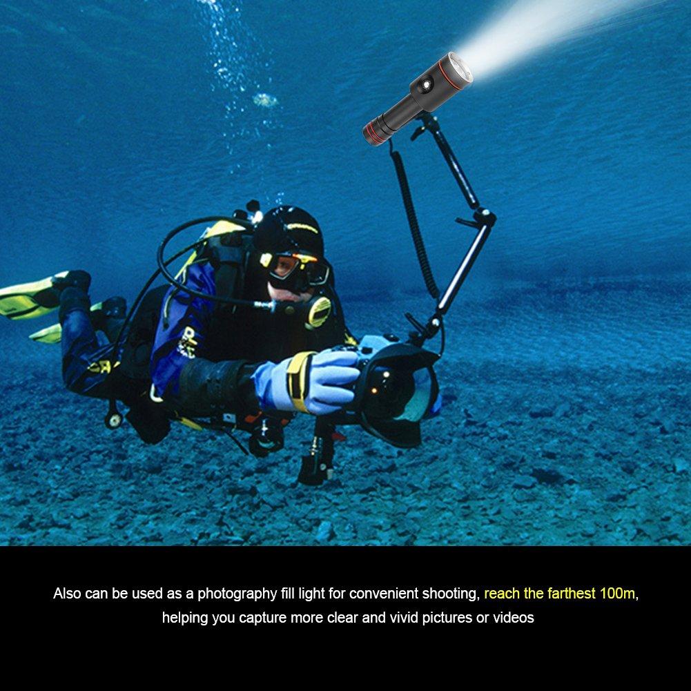 Fdit 100M LED Buceo Linterna Bajo Agua Impermeable L2 Granos de de Granos Lámpara Mano Portátil Antorcha Aire Libre o Interior Socialme-EU 0646d8