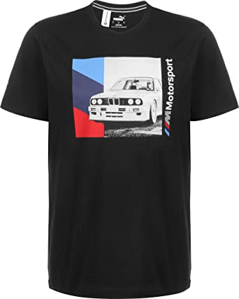 PUMA BMW MMS Graphic Camiseta Black: Amazon.es: Ropa y accesorios