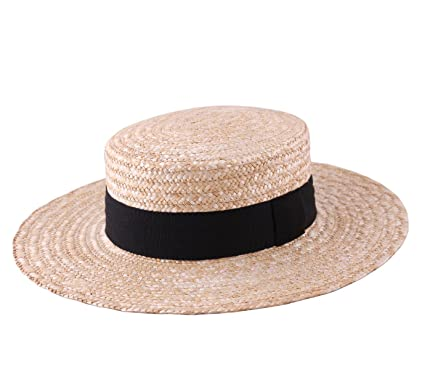f8f9cedcf79 Modissima Canotier Large Boater Hat Gondolier Straw Size 55 cm. Roll over  image to zoom in
