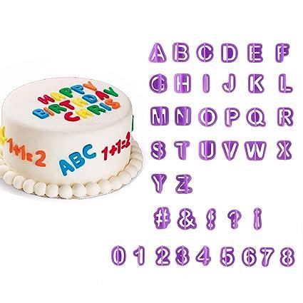 Amazon 40pcs Alphabet Number Letter Mold Fondant Cake