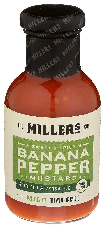 MILLERS MUSTARD Mustard Banana Pepper Mild, 9.5 OZ