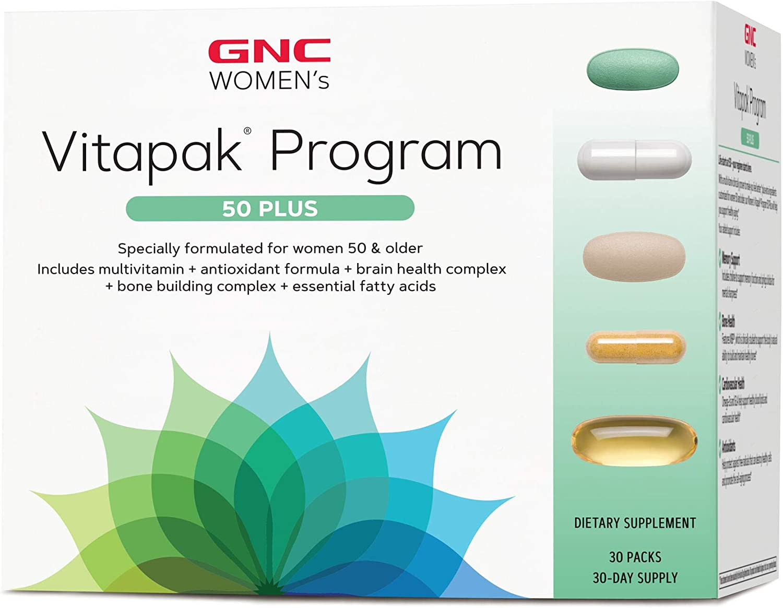 GNC Women's Vitapak Program 50 Plus, 30 Packs, Supports Healthy Aging, Memory Support, Bone Health, Cardiovascular Health