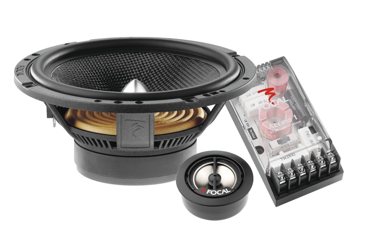 Focal Access 165 A1 65 Inch 2 Way Component Speaker Kit On Wiring 65s Tweeters Crossovers Using Factory Car Electronics
