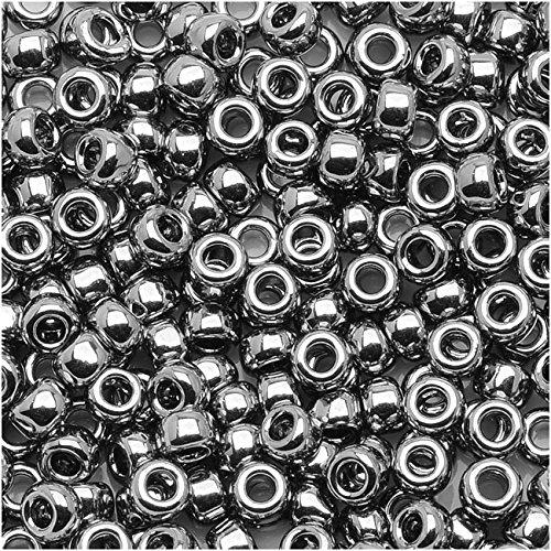Toho Round Seed Beads 8/0#711 - Nickel (8 Grams)