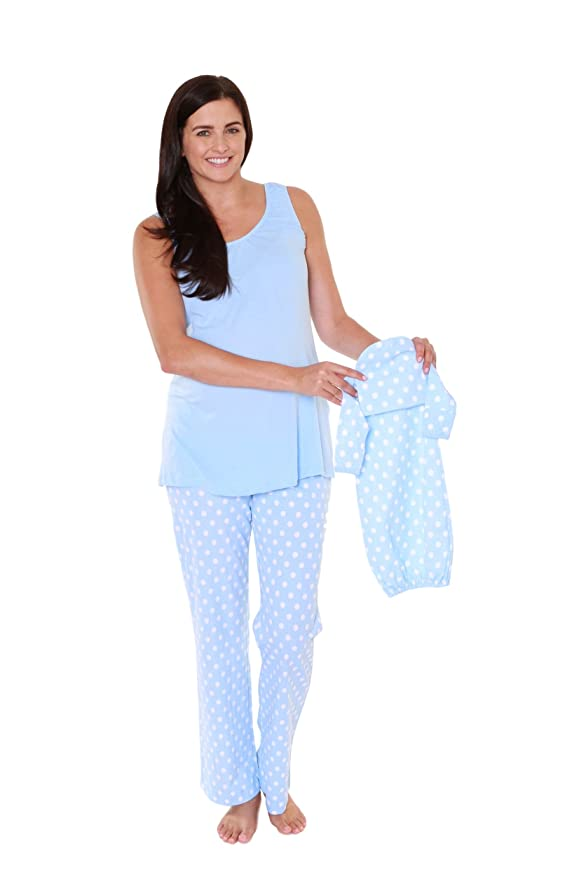 Baby Be Mine Nursing PJ Set with Matching Baby Outfit (Large pre pregnancy 12-14, Nicole) at Amazon Womens Clothing store: