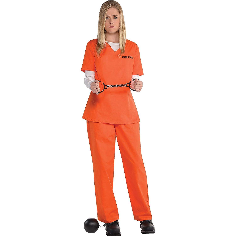Amazon.com: Naranja Disfraz De recluso – Estándar – Tamaño ...