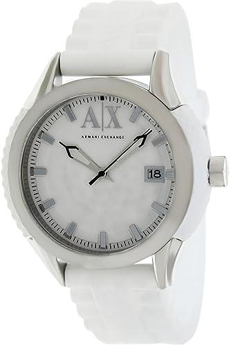 11c746f3fc7c Armani Exchange AX1229 - Reloj de Pulsera de Hombre Color Blanco  Armani  Exchange  Amazon.es  Relojes