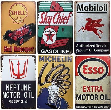 Rocket Motor Oil Sign Man Cave Garage Shed Vintage Gift workshop Mechanic Cars