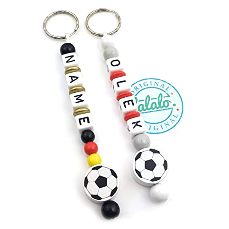 LALALALO - Llavero de fútbol con nombre grabado - Colgante y ...