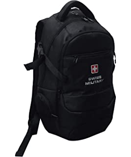 Swiss Military Polyester 25 Ltrs Black Laptop Backpack (LBP58 ... 8bc7d3c673b52