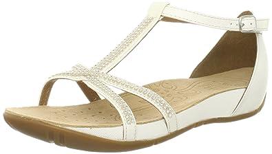 d861a4d960f3 Clarks Women s Rona Sparkle Fashion Sandals White Size  3.5  Amazon ...
