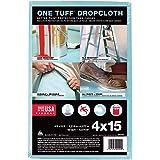 Trimaco 90099 One Tuff Dupont Sontara Professional Grade Drop, 0.011 In T, 4 W X 15 Ft L, Blue, Cloth, 4'x15 feet