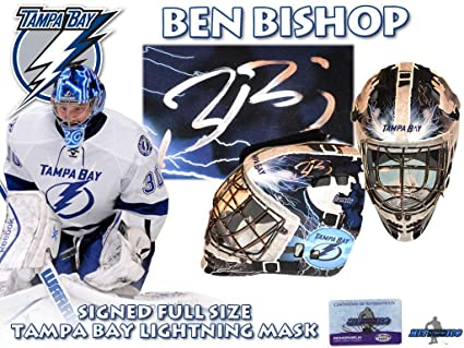 6867dcd91 BEN BISHOP Signed TAMPA BAY LIGHTNING Full Size GOALIE MASK  w COA quot NEW quot