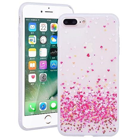 Ukayfe Custodia Cover iPhone 7/8 Plus Silicone Morbido Trasparente