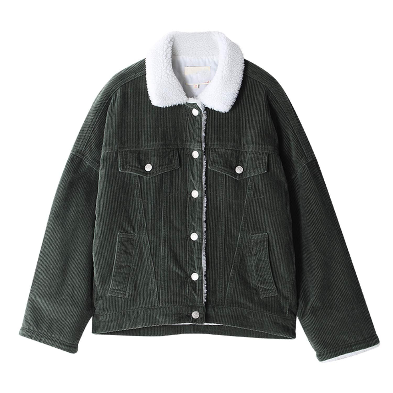 Amazon.com: Newly Style Autumn Winter Outerwear Coats Lambswool Bomber Jacket Women Long Sleeve Jackets Casual Sin: Clothing