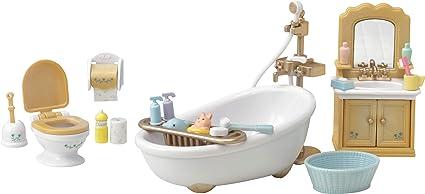Amazoncom Calico Critters Country Bathroom Set Toys Games - Calico critters bathroom