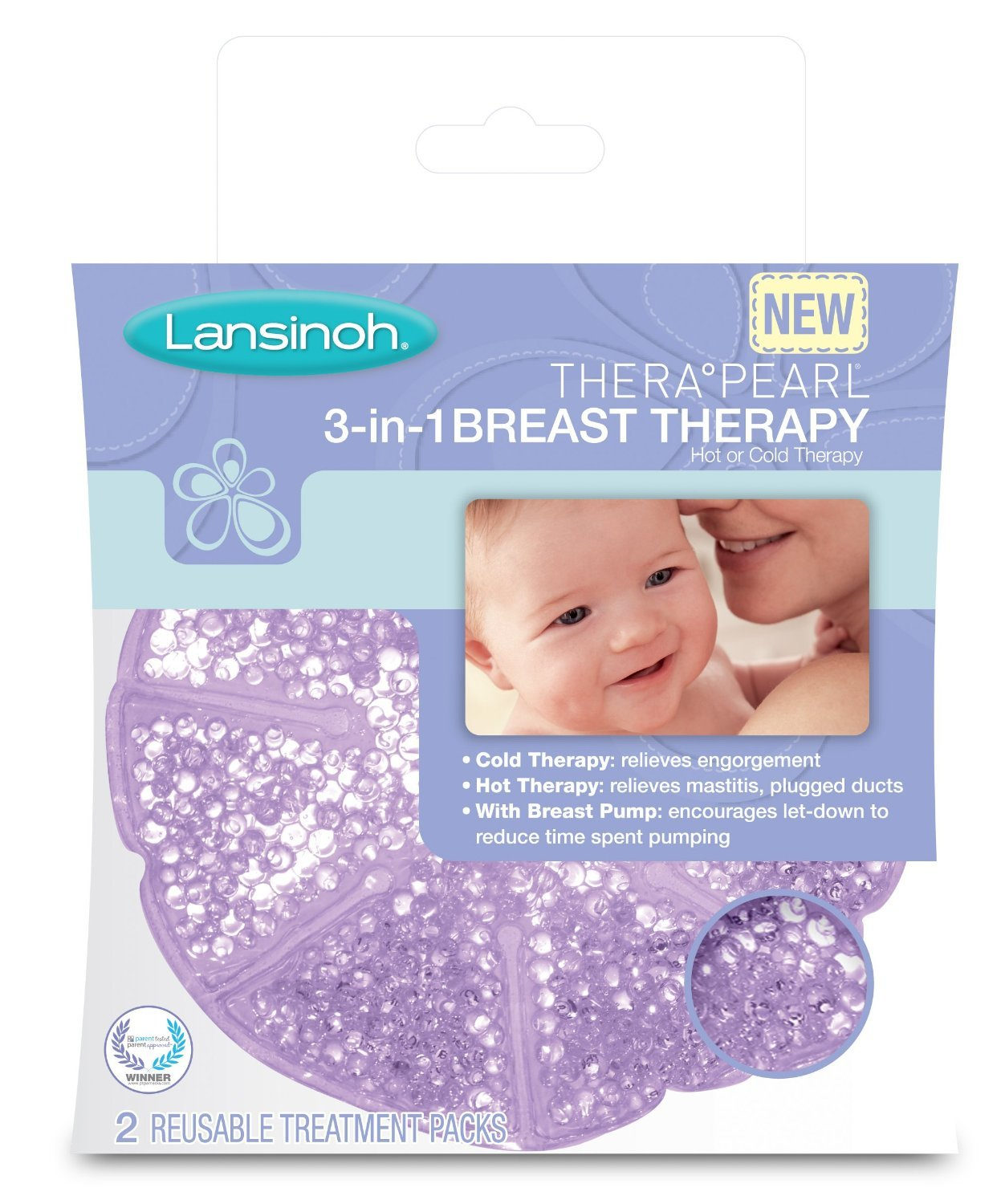 Lansinoh TheraPearl 3-in-1 Breast Therapy (Pack of 2) LANSINOH LABORATORIES INC