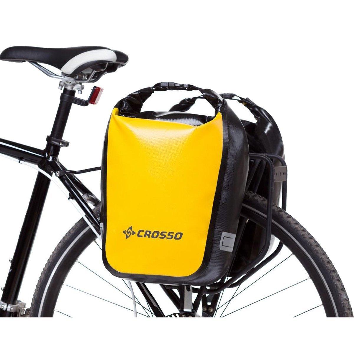 Bicicleta bolsillos adaptador para portaequipajes Crosso plata