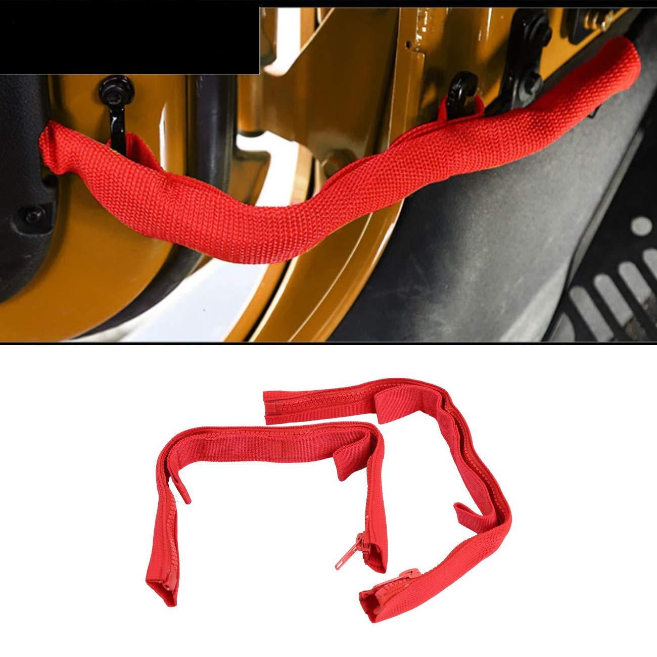 Door Limiting Straps for Jeep Wrangler JK JKU 2007-2018 Smart Strap Black 2Pack