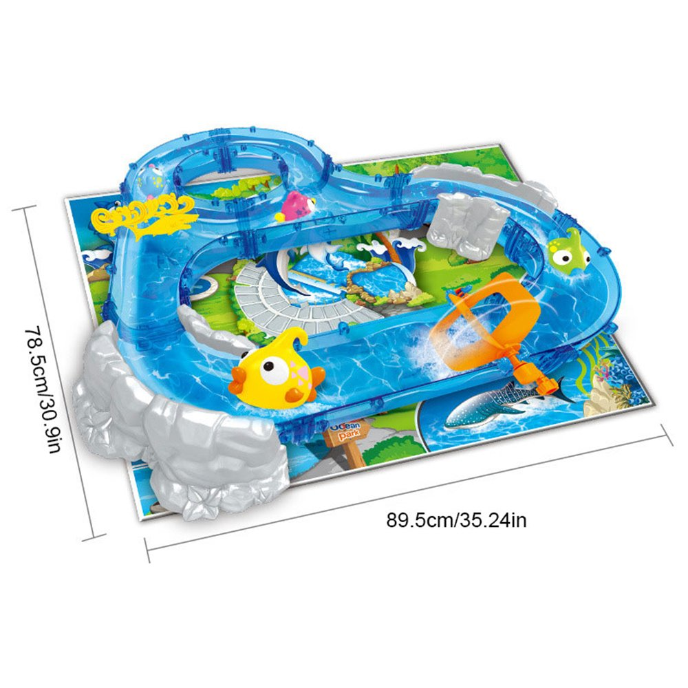 Umiwe Mountain Lake Kids Waterplay Go Fishing Toy Game Race Track Set with Two Fishing Rods and Play Mat for Summer Beach Sandpit Sand Garden Outdoors Fun by Umiwe (Image #2)