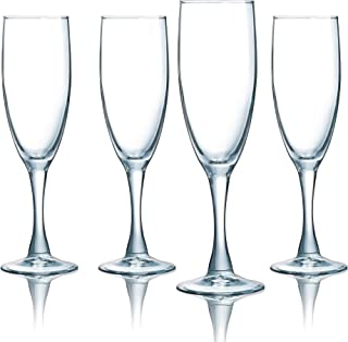 product image for Luminarc N7525 5.75 Ounce Atlas Flute 4-Piece Set, Champagne, Set of 4, Clear