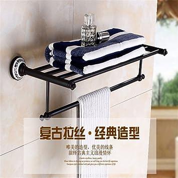 En Europa, los Estados Unidos de Cobre Plena Black Antique Azul-baño alicatado toallero toallero Adornos Antiguos, Juego de Toallas de baño: Amazon.es: ...