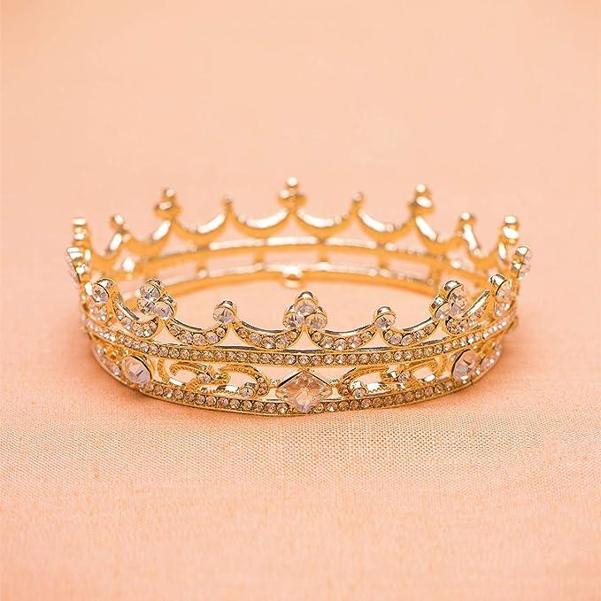 Woman Wedding Faux Rhinestone Tiara Crown Headband Silver Tone Purple T4H9