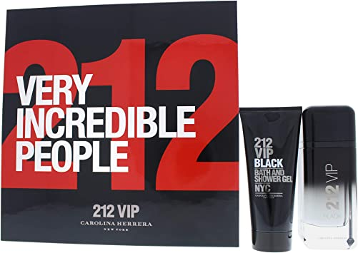 Carolina herrera 212 vip black edp 100 ml + s/gel 100 ml set regalo.: Amazon.es: Belleza