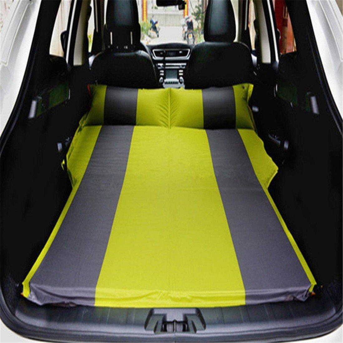 STAZSX Autoreisebettauto von der aufblasbaren Matratze der Matratze im Freien, grünes Grau