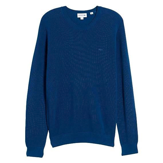 500cd65f5320 Lacoste Sweater AH4082-Q1Y BLAU  Amazon.de  Bekleidung