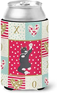 Caroline's Treasures American Polydactyl Cat Love Can or Bottle Hugger cold-beverage-koozies, Multicolor