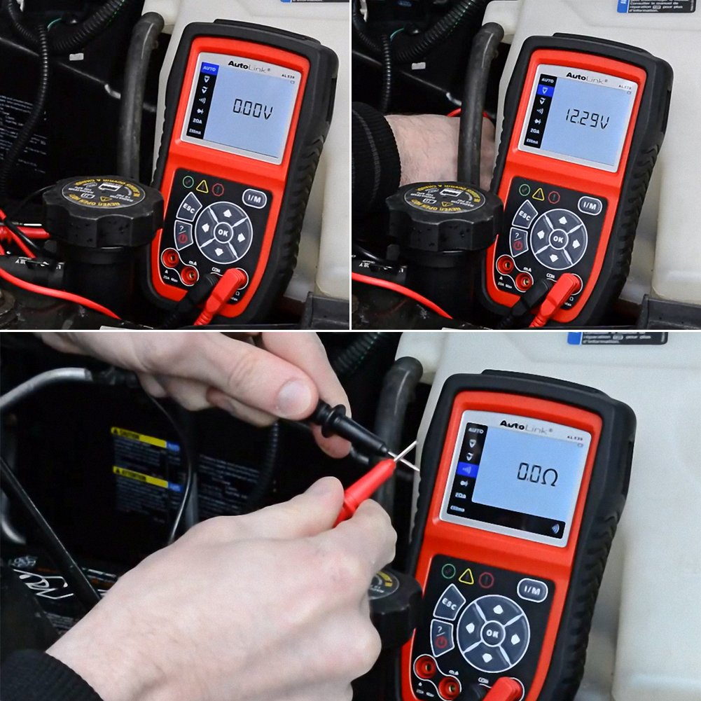 Autel AL539 Code Reader Scanner Scan Tool Car Electrical Tester with Full OBD2 Diagnoses and Avometer Function(Upgraded Version of AL519) by Autel (Image #6)