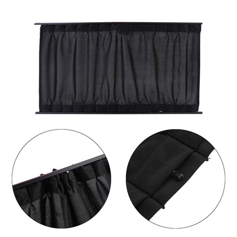 stears 2piezas/juego de aluminio aleación elástica Auto ventana lateral Protector Solar cortinas Windows cortina parasol Jalousien protectora auto de Styling S, L beige beige Talla:50L