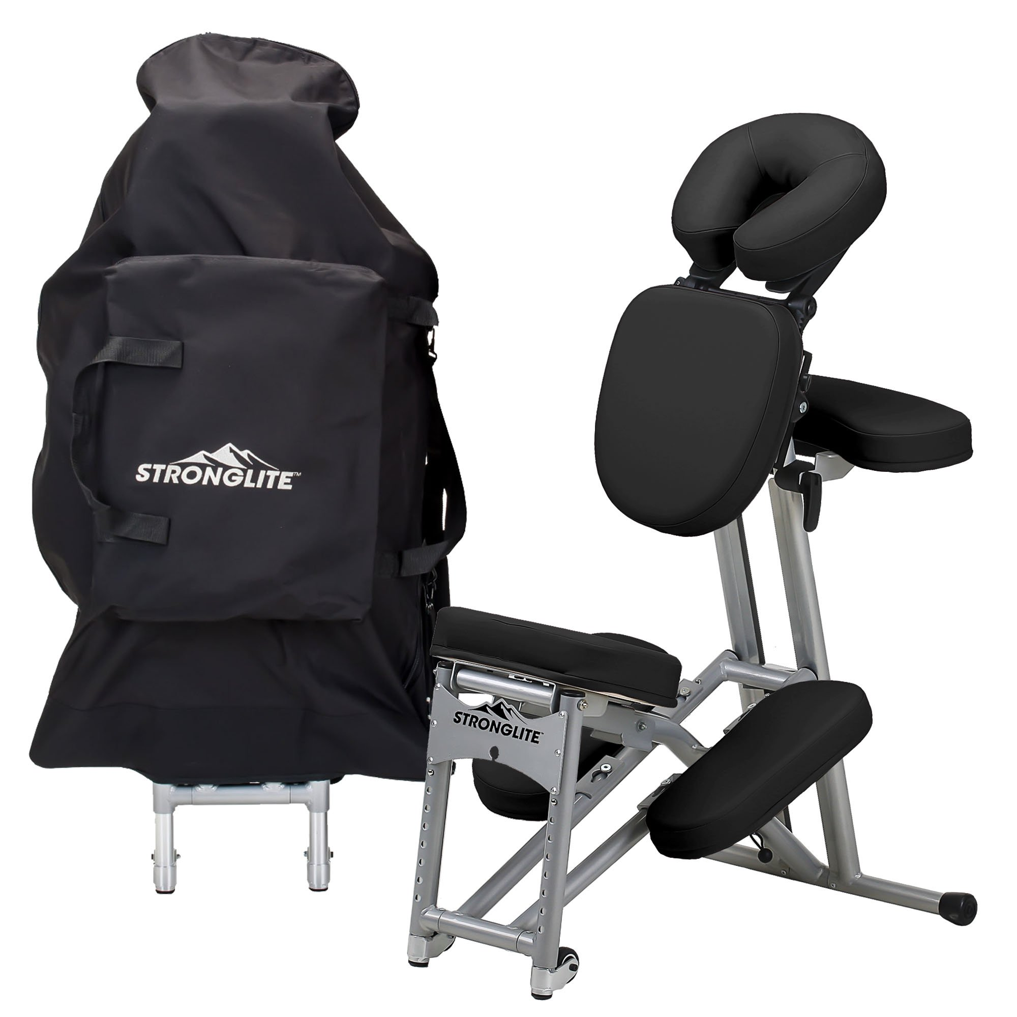 STRONGLITE Ergo Pro II Portable Massage Chair Package   Lightweight,  Foldable Tattoo Spa Massage Chair With Wheels