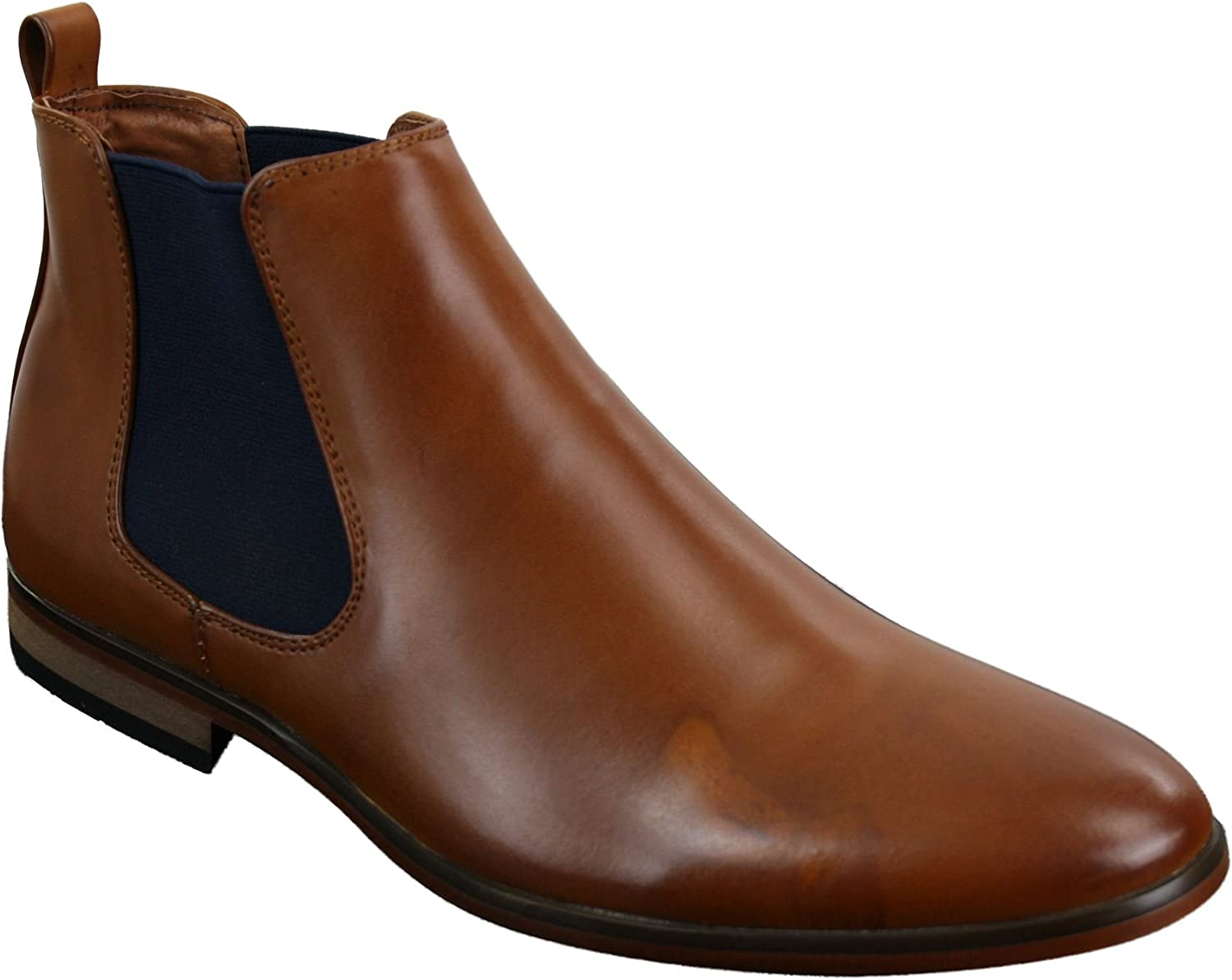 Leather Chelsea Boots Smart Casual Slip