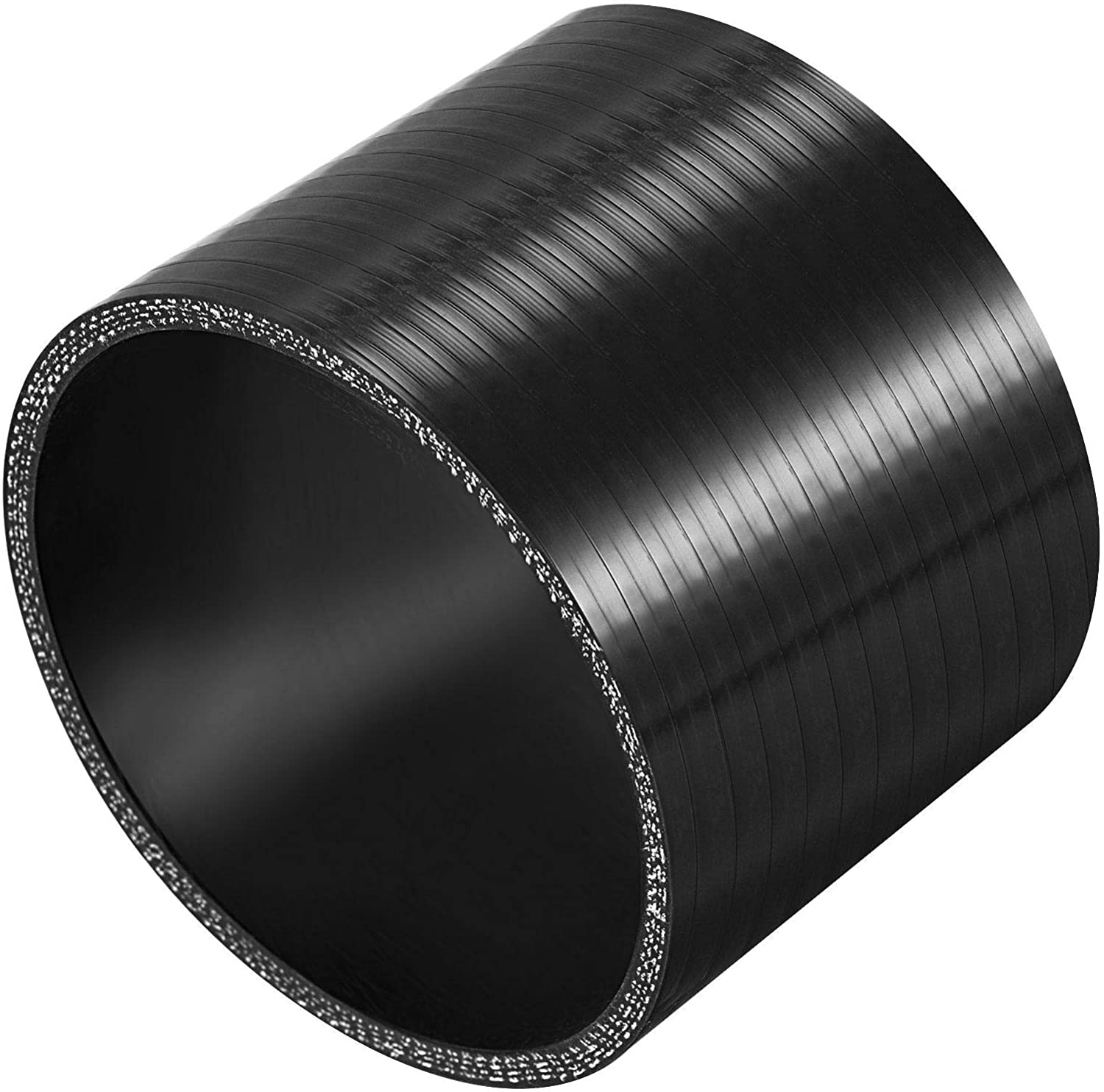 X AUTOHAUX 89mm 3.50 ID Car Straight Silicone Coupler Turbo Pipe 76mm Black